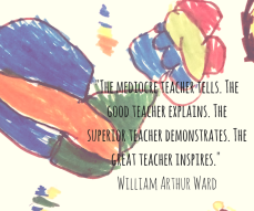 -The mediocre teacher tells. The good teacher explains. The superior teacher demonstrates. The great teacher inspires.- William